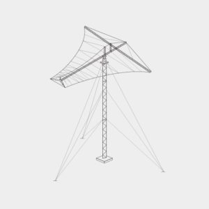 TCI Model 521 Rotatable Log-Periodic Antenna