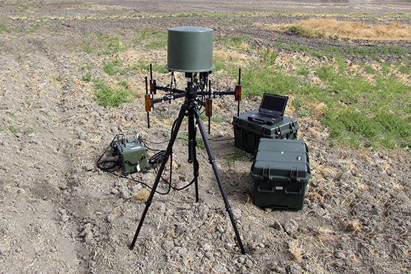 Model 903s tactical COMINT system with antenna 649-8 used in drone detection system demos
