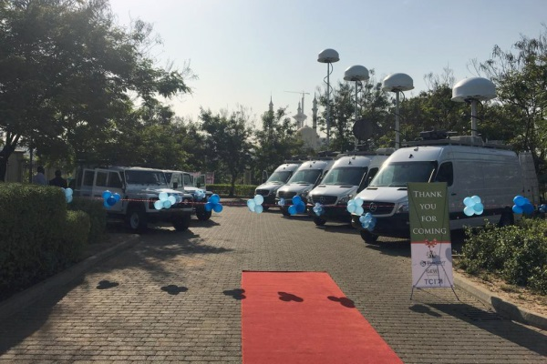 Spectrum monitoring vehicles at the Nigerian FMC Commissioning Event