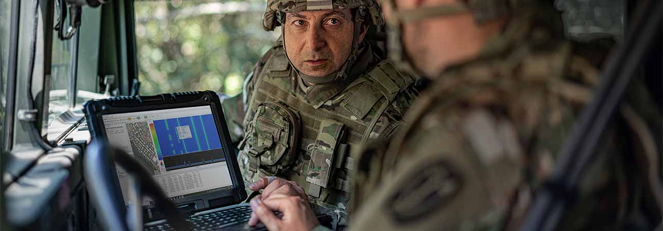 In-theater spectrum operators use a TCI COMINT solution in the field