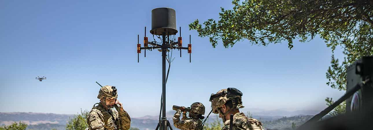 A military organizations deploys TCI counter UAS drone detection system