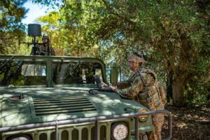 Soldiers manage the electromagnetic spectrum